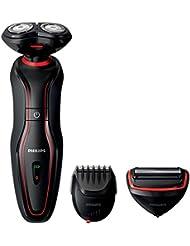 Philips S738/20 Click & Style 3 en 1 avec sabot barbe, rasoir et tondeuse corps