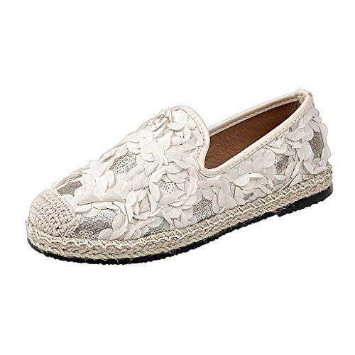 Fannyfuny Sandalen Damen Casual Flache Sandalen Outdoor Bequeme Elegante Faule Schuhe Einzelne Schuhe Pumps Sandalen Atmungsaktiv Leichte Wanderschuhe Schwarz, Beige, Pink 35-40 Lace Oxford Pumps