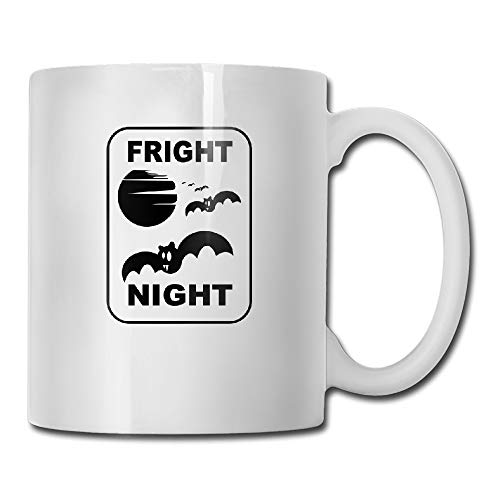 Fright Night Halloween Trick Or Treat Featuring Bats Tea Cup Novelty Gift for Friends (Night Halloween Fright)
