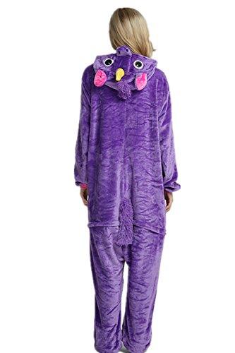 VineCrown Schlafanzug Einhorn Pyjamas Tier Overall Karikatur Neuheit Jumpsuit Kostüme für Erwachsene Kinder Weihnachten Karneval Lila