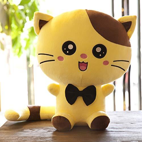 mangegeg Plüschtiere Süße Katze Puppe Klammert Sich Kissen Puppe Kätzchen Kindertag Puppe Kreatives Geburtstagsgeschenk Mädchen 70 cm Gelb (verspielt) -