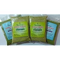 Yauvanya Combo 100% pure Henna powder for hair 2X100 gms + Yauvanya 100% pure Indigo Powder for hair 2X100 gms