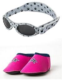 Yoccoes Lunettes de Soleil - Bébé (Fille) 0 à 24 Mois Grey Sunglasses Pink d908c13913db