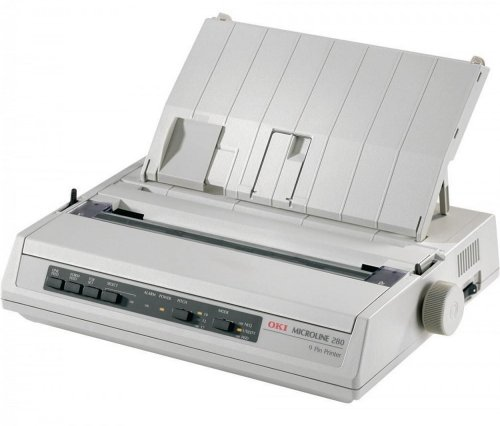 OKI Micro Line 280 Elite 9- Pin 80 Column Parallel Dot Matrix Printer Test