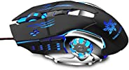 Zinq Technologies 1070 LED Backlight 6 Button USB Gaming Mouse with 3200DPI, 1.5 Metre Nylon Braided Cable, Er