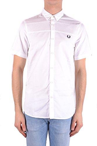 Fred perry camicia uomo mcbi128255o cotone bianco