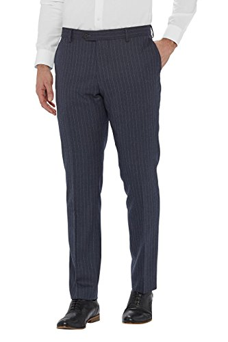 next Homme Pantalon De Costume Slim À Rayures Bleu