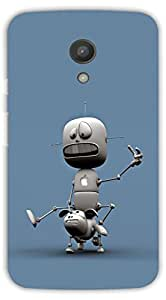 Crazy Beta 3D ROBOT Printed Back Cover For Motorola G2