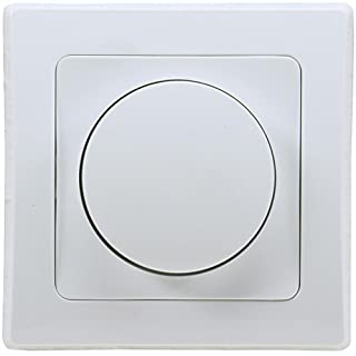 Delphi LED Dimmer Dimm-Schalter Unterputz 230V LED 3-35W Halogen 7-110W inkl. Rahmen Drehknopf weiß