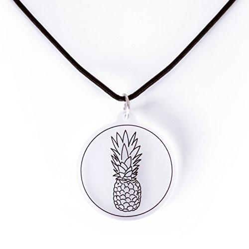 änger (Ø 3 cm) Qualität - Made in Germany (Transparent) Ananas-Symbol für Herzlichkeit, Gelassenheit und Selbstbewusstsein (Ananas-symbol)