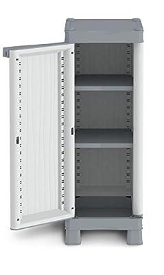 Terry Base 350UW Schrank niedrig säulenförmig aus Kunststoff, grau, 35x 43,8x 97.6cm von Terry Store-Age Spa auf Gartenmöbel von Du und Dein Garten