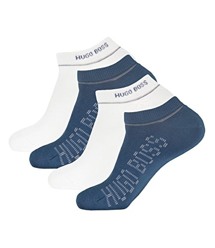 Preisvergleich Produktbild BOSS HUGO Herren Sneaker Socken Kurzsocken AS Design 50308112 4 Paar, Größe:39-42, Artikel:-414 navy/white