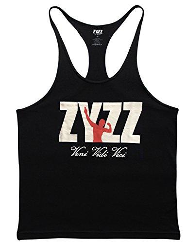 Musclealive Herren Bodybuilding ZYZZ Mode Tank Tops Baumwolle Farbe Black Größe Large (Athlet Tank)