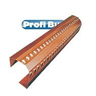 First- und Gratlüfterkappe mit PU-Dichtkeil | 1050mm x 220mm | Keilhöhe: 50mm| Farbe: ziegelrot