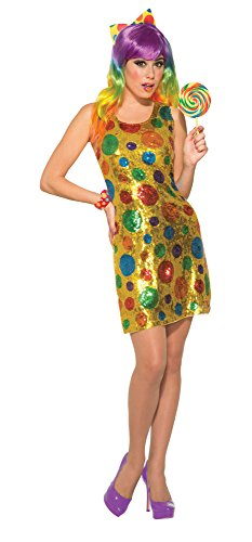 Forum Novelties 79280 Clown Polka Dot Pailletten Kleid (UK Größe (Polka Dot Kostüme Clown)