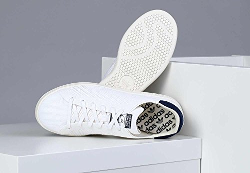 adidas Stan Smith OG Primeknit, Sneakers Basses Homme Blanc Bleu Marine