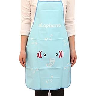 Cooking Kitchen Aprons, Gaddrt Cute Cartoon Kitchen Waterproof Apron Cooking Bib Apron (Blue)