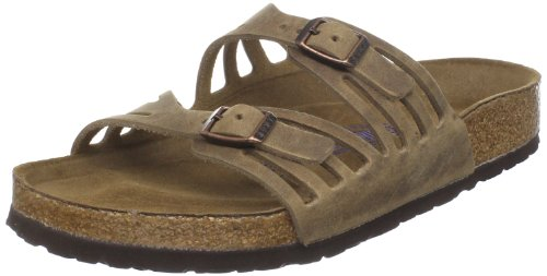 BIRKENSTOCK Women's Granada Slide Sandal,Tobacco Oiled Leather,39 M EU