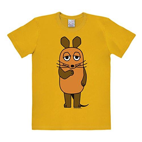 Die Maus T-Shirt - Sendung mit der Maus Shirt - TV Rundhals T-Shirt von Logoshirt - gelb- Lizenziertes Originaldesign, Größe S (Gelb Tasse T-shirt)