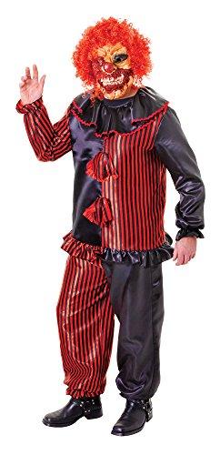 (Bristol Novelty ac475Zombie Clown Kostüm mit Maske, rot, Blumenkasten)