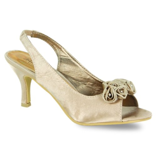Garage Shoes , a bride femme Blanc cassé - Ivory Satin