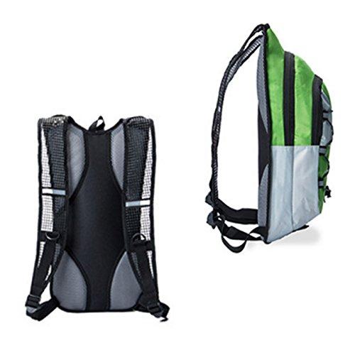 hotspeed Zaino Borsa Idratazione con tasca a acqua per ciclismo escursionismo alpinismo campeggio Escalation ecc Nero Arancione Blu Rosso, Orange 5L, Taglia unica Vert 12L