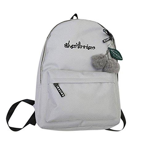 OYSOHE Unisex Rucksack, Mode Neutral Segeltuch Rucksack Tasche Schulter Leinwand Schule Mädchen Junge Handtasche (one size, ZA-Grau)
