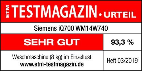 Siemens iQ700 WM14W740 Waschmaschine / 8,00 kg / A+++ / 137 kWh / 1.400 U/min / sensoFresh Programm / Nachlegefunktion / Hygiene Programm / Trommel reinigen-Programm - 11
