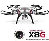 Deutschland Hillicom Syma X8G Drohne RC Quadcopter 2,4GH 6 Axis 4CH 8MP HD Kamera Headless 3D 360° silber
