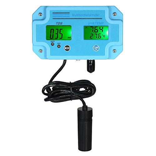 KKmoon Wasserqualität Tester Professionell 3 in 1 pH/TDS/Temp Messgerät [Multiparameter Digital LCD Tri-Meter Multifunktions-Wasserqualität Monitor] -
