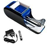 Maquina Liadora de Tabaco Entubadora Electrica para Cigarrillos de Papel de Liar Tubos de Cigarros Maquinilla Portatil para Fumar Fumadores (Azul)