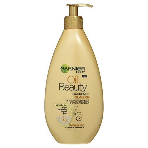 Schöne Body Lotion (Garnier Oil Beauty Nährende Öl Milch,1er Pack (1 x 400 ml))