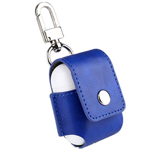 Preisvergleich Produktbild Vovotrade Für Apple Air Pods Airpods Tragbare Ledertasche Schutzhülle Tasche (Blau)
