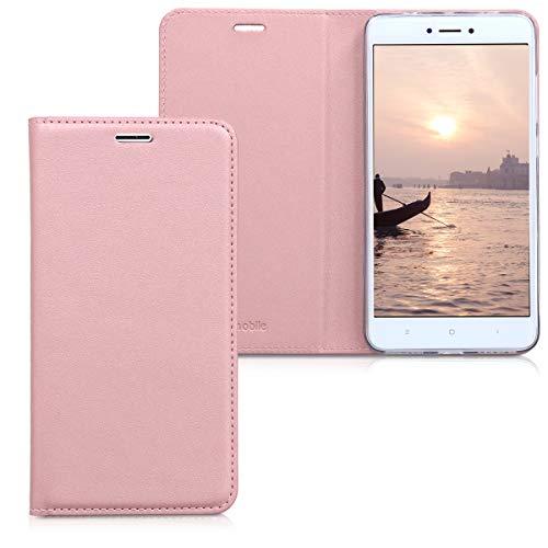 kwmobile Xiaomi Redmi Note 4 / Note 4X Hülle - Kunstleder Handy Schutzhülle - Flip Cover Case für Xiaomi Redmi Note 4 / Note 4X