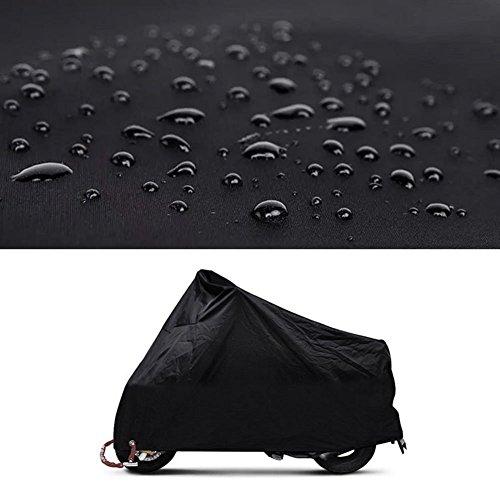LEORX Jede Jahreszeit Motorrad Abdeckung wasserdicht staubdicht Schutzhülle (schwarz, XL)
