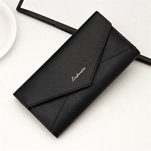 Bzline® Portafogli Donna Portamonete Portamonete Portamonete Handtasche (schwarz) Schwarz