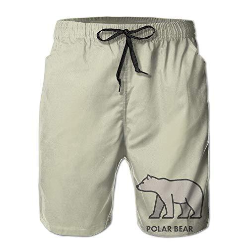Pillow Socks Men's Polar Bear Drawing Graphic Design Humor Jogging Pants Quick Dry Beach Shorts Medium (Bear Polar Club-shirt)