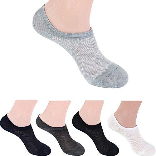 5 Pares Calcetines Barco Reticulado Cortos Invisible Para Hombre De Vario Color