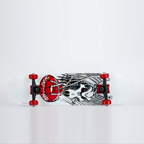 BIN Novize Skateboard, Beginner Vier-Rad-Skiste, Für Kinder/Erwachsenenskateboard, Zweirad-gebogener Allrad-Roadskateboard
