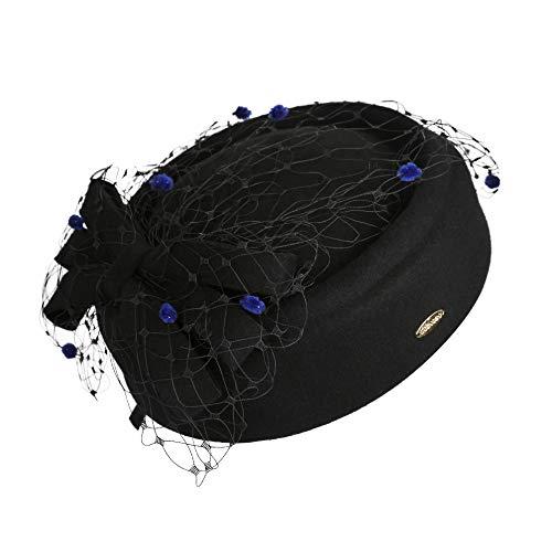 Kostüm Lady Gangsta - kyprx Bow japanischen Strohhut Kostüm Kopfschmuck Braut Haarschmuck Europa und die Vereinigten Staaten Mesh-Mode Wollhüte