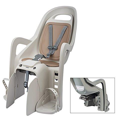 Kindersitz Polisport Groovy Maxi CFS creme/braun, Befestigung Gepäckträger (1 Stück)