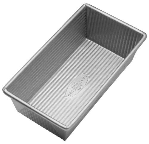 Pullman Loaf Pan (USA Pfanne Bakeware aluminisierten Stahl 1Pfund Backen Silber 1 pound loaf silber)