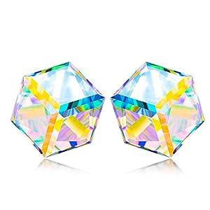 Alex Perry Kaleidoskop Serie Damen Ohrstecker/Halskette, 925 Sterling Silber, Aurora Borealis Kristall von Swarovski, Exquisite Geschenkbox