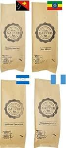 Probierset 4x 250g sortenreine Kaffees gemahlen für French Press