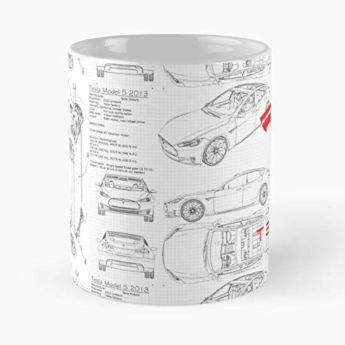 Nikola Tesla Motors Sweater Boil Cup Coil - Best 11 Ounce Ceramic Coffee Mug Gift
