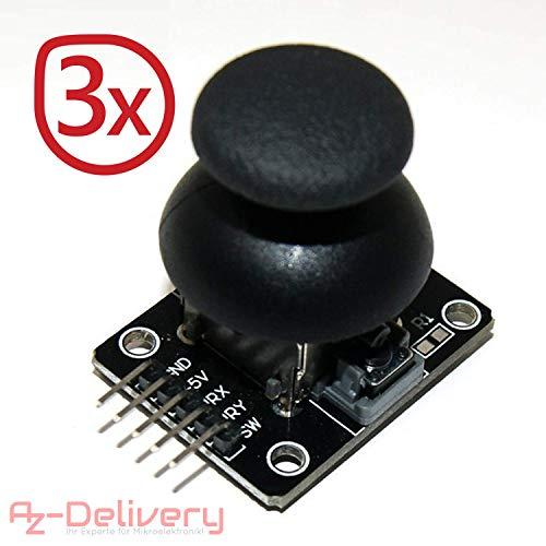 AZDelivery ⭐⭐⭐⭐⭐ 3x Joystick Modul KY-023 für Arduino UNO R3 mit gratis eBook!