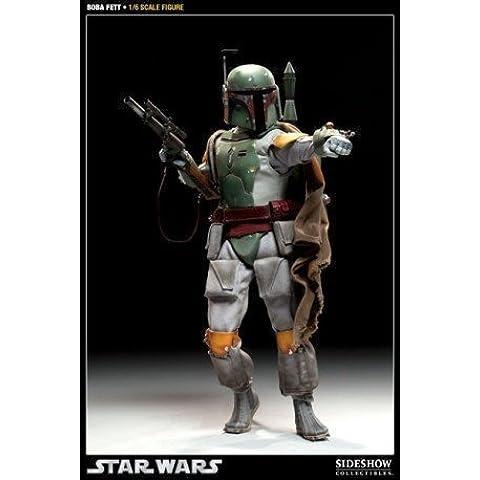 Tallado Star Wars Boba Fett figura de acción de 12 cm pintado a mano y bien articulado