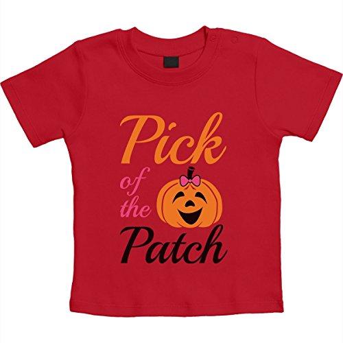 Halloween Geschenk Baby Girls Kürbis Pick Unisex Baby T-Shirt Gr. 66-93 12-18 Monate / 86 Rot