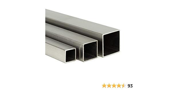 Edelstahl Vierkant VA V2A blank h11-6x6mm auf Zuschnitt 140cm L: 1400mm