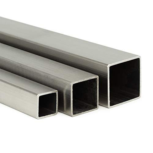 Edelstahl Vierkantrohr V2A K240 | BxHxS 40x40x2mm L: 2000mm (200cm) Zuschnitt